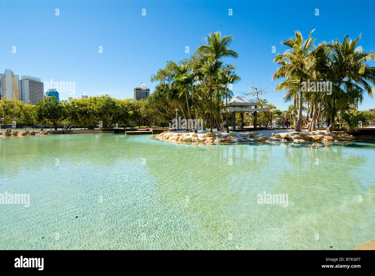 South Bank Parklands, Downtown Brisbane, Queensland, Australia - Stock Image