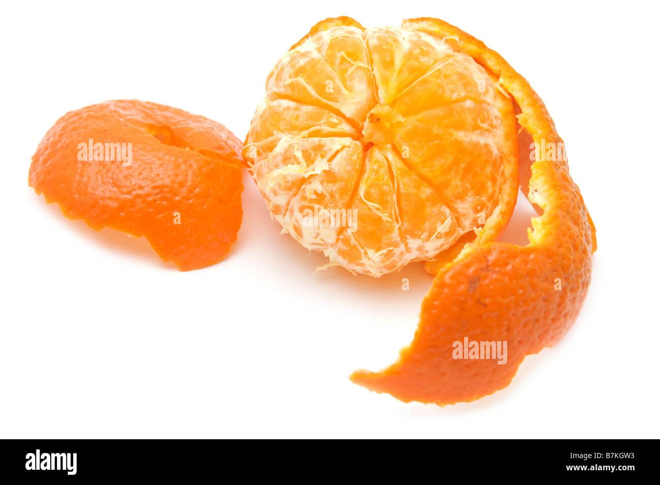 object on white food raw mandarin - Stock Image
