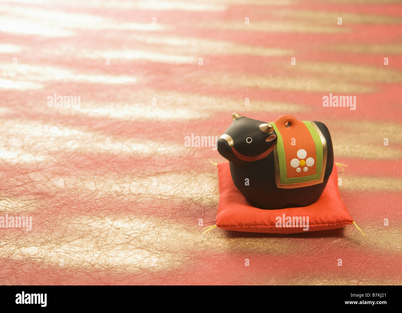 Earthenware bell of cow - Stock Image