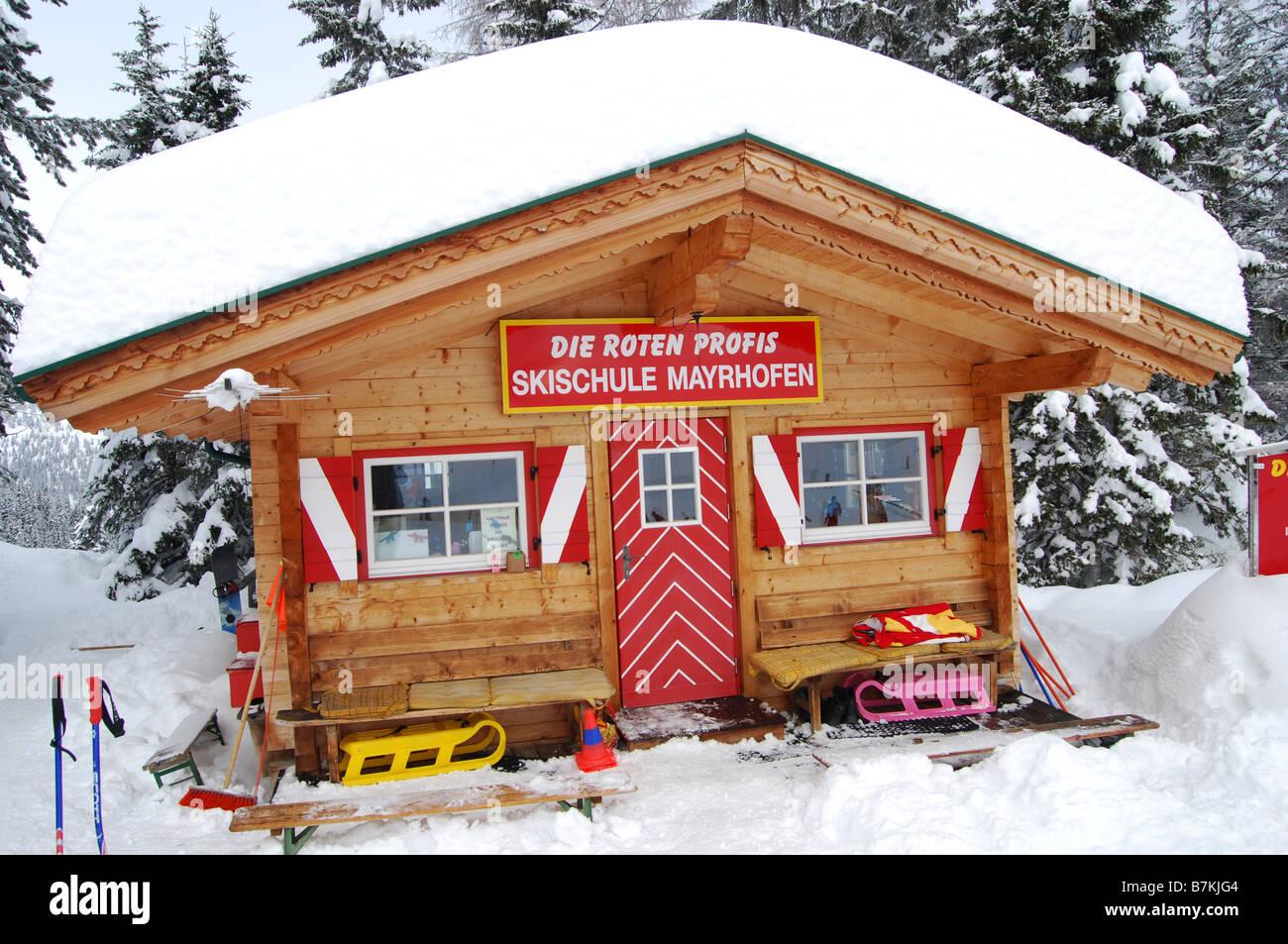 ski school Penkenbahn mayrhofen Tyrol Austria - Stock Image