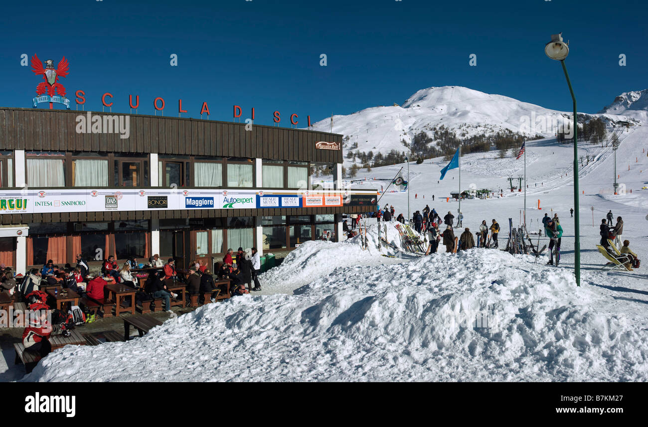 Sestriere, Piemont, Italy - Stock Image