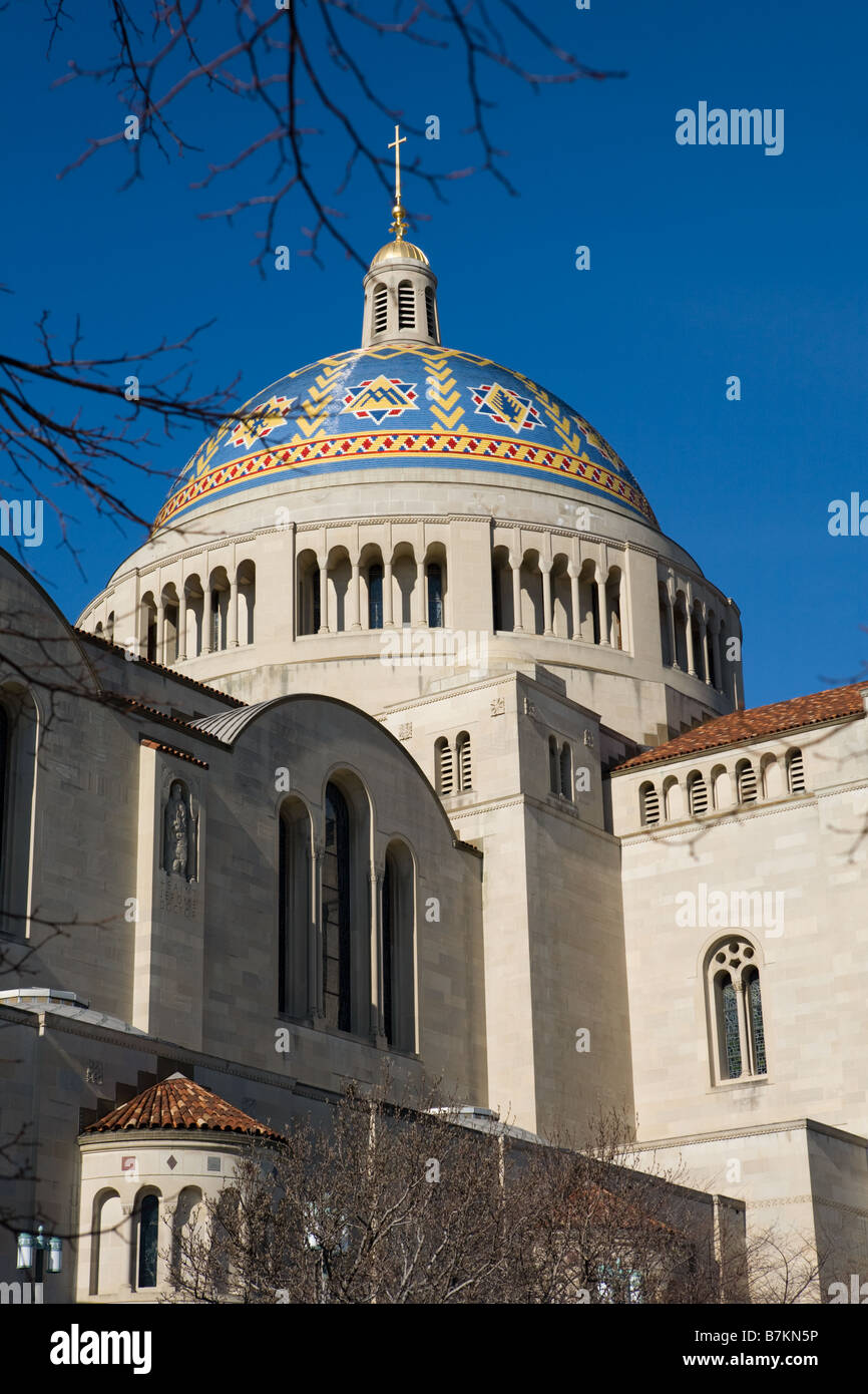 Basilica of the National Shrine of the Immaculate Conception Washington D.C. Stock Photo
