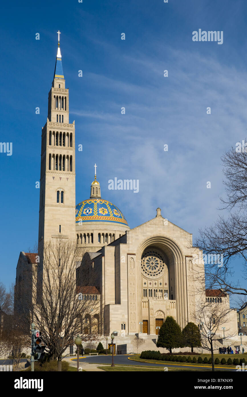 Basilica of the National Shrine of the Immaculate Conception Washington D.C. - Stock Image