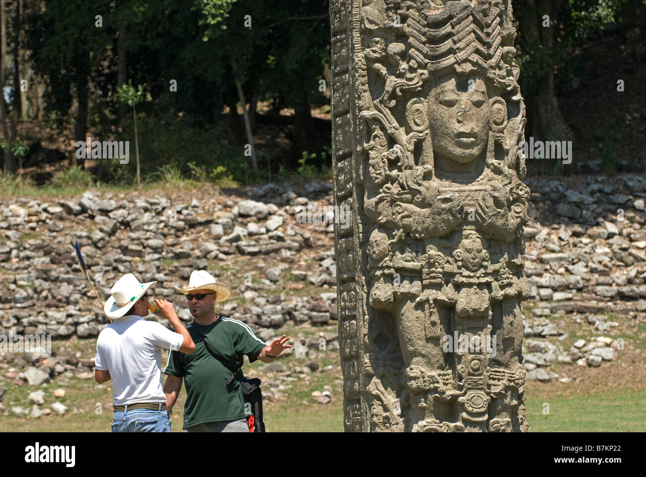 Honduras, Copan. Maya Ruins of Copan, a UNESCO World Heritage Site, is the site of a major Maya kingdom of the Classic - Stock Image