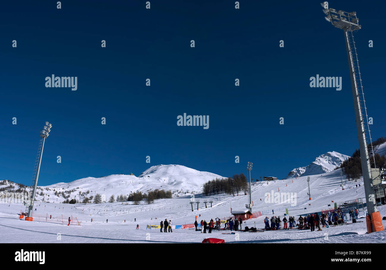 Sestriere, Piemont, Italy Stock Photo