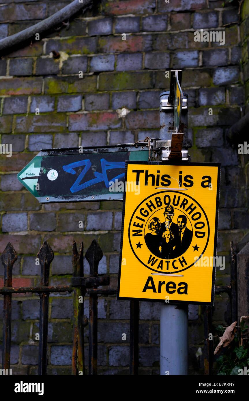 Neighbourhood Watch sign, Bucks, UK - Stock Image