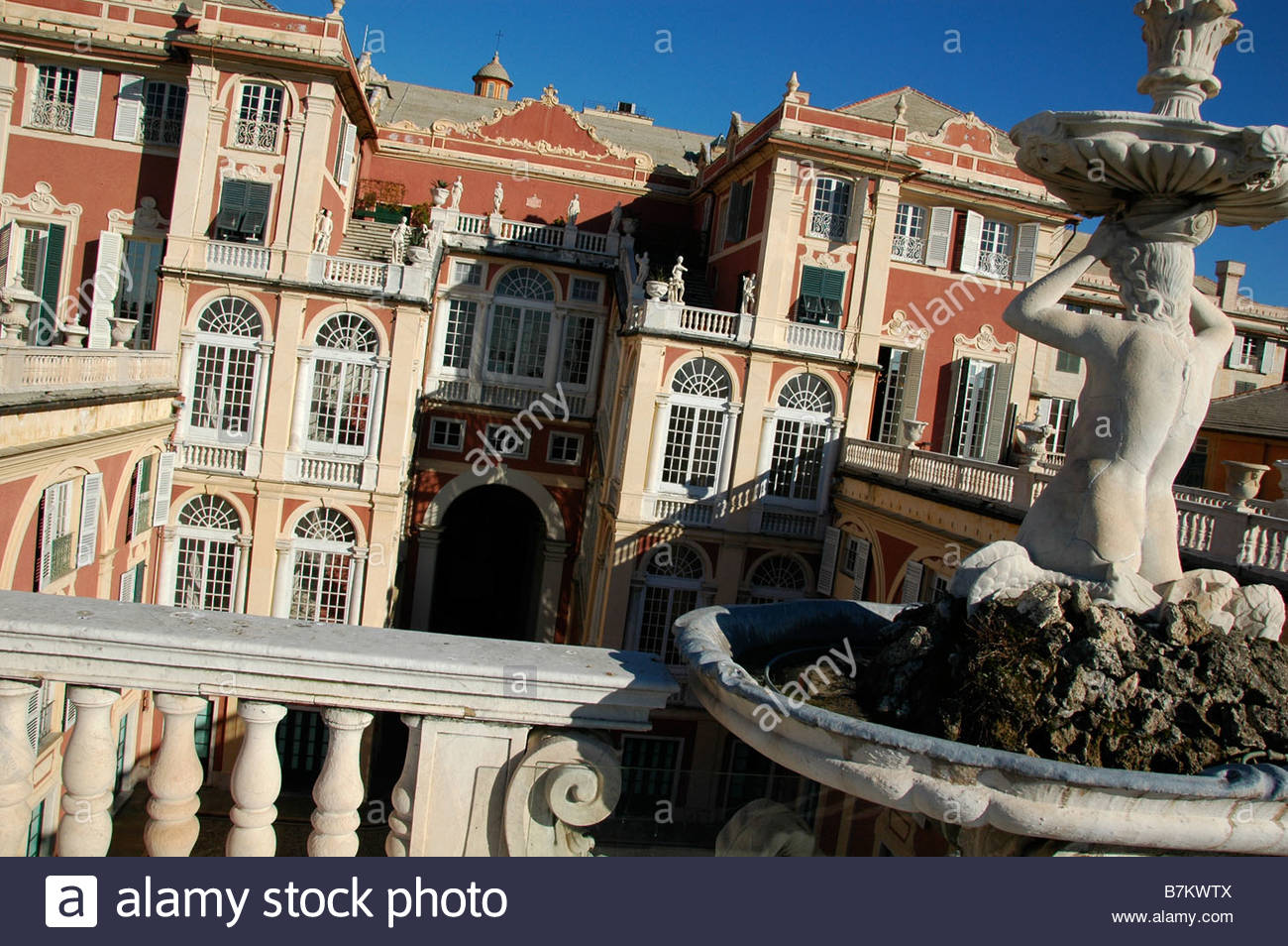 The Palazzo Reale (Royal Palace) in Genoa - Stock Image