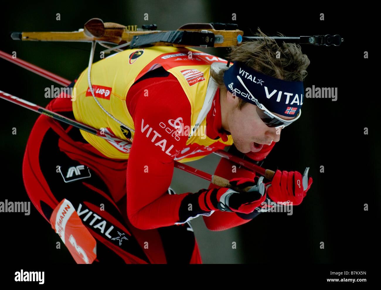 SVENDSEN Emil Hegle Norwegen Biathlon Weltcup Verfolgung Frauen Männer Ruhpolding 18 1 2009 - Stock Image