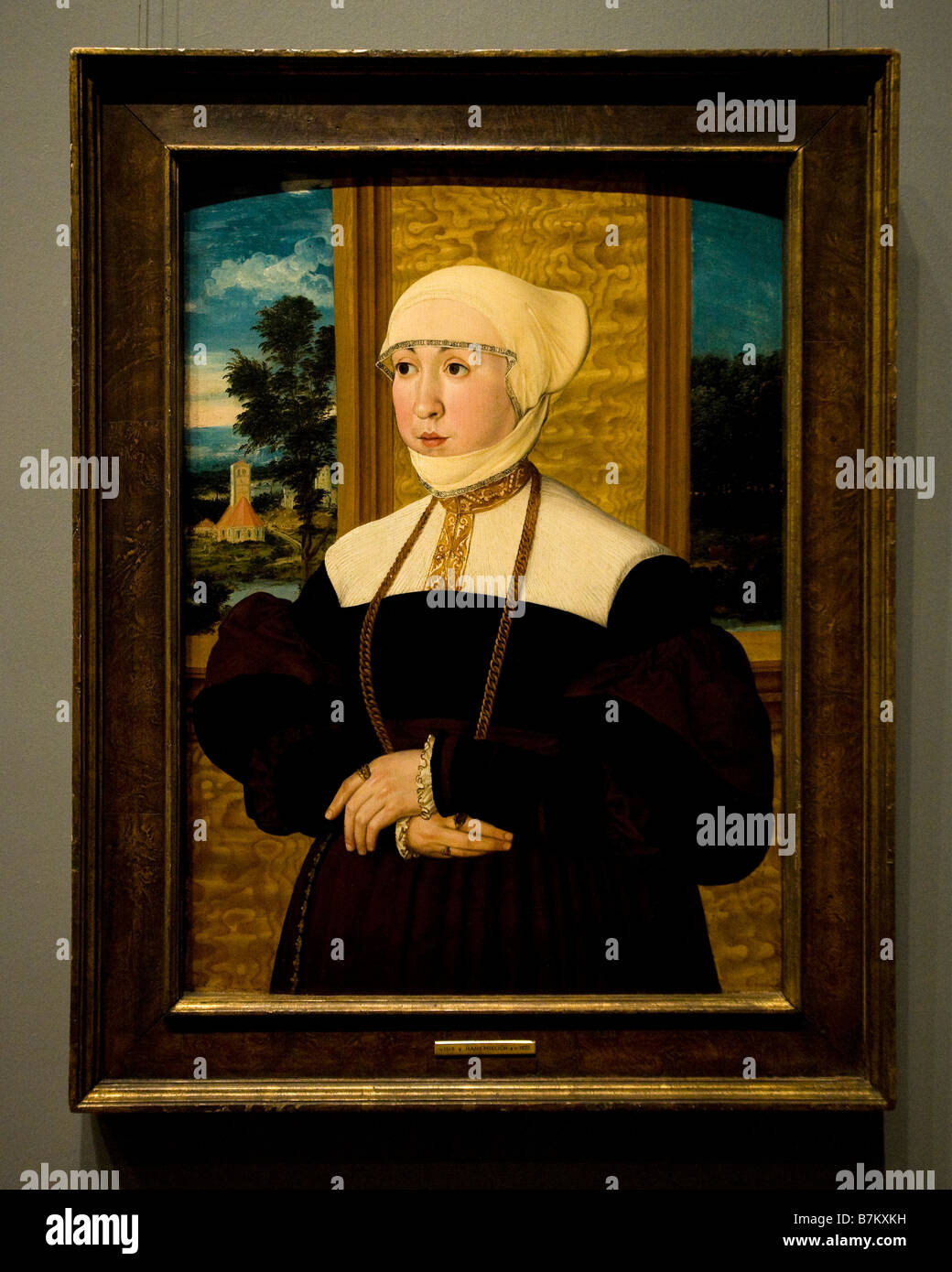 'Portrait of a Woman' by Hans Mielich, 1540 - Stock Image