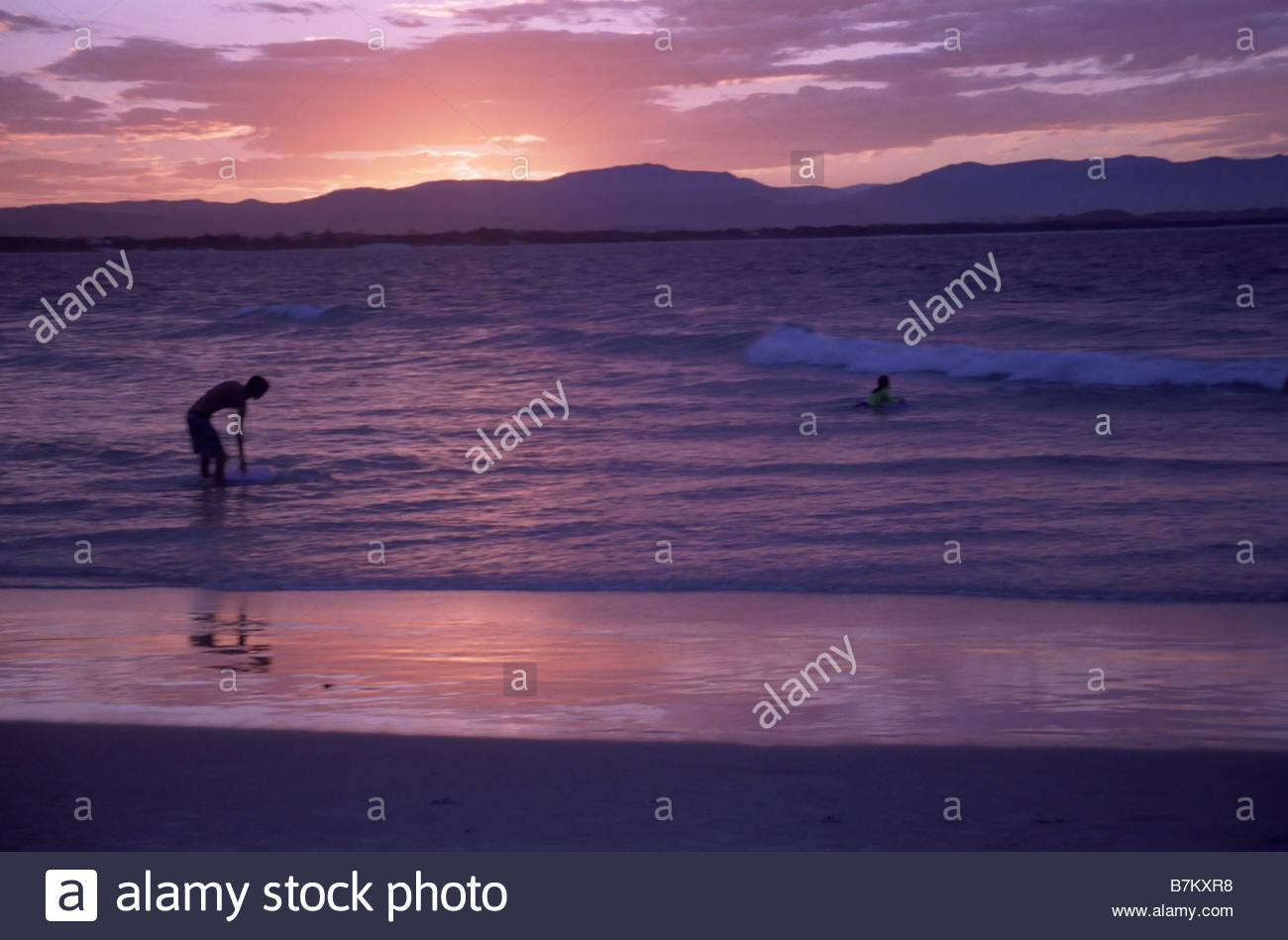 Playing in the sea - Stock Image