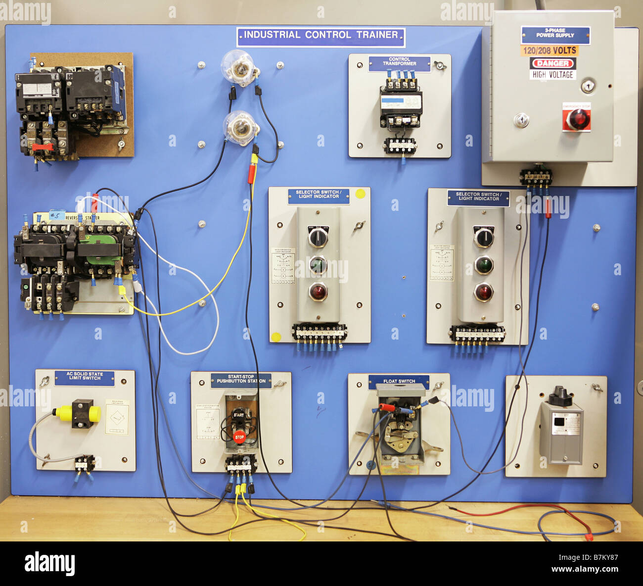 Transformer Wiring Board Trainer Trusted Diagram Guide An Industrial Motor Control Training Panel Used In Adult And Stock Rh Alamy Com