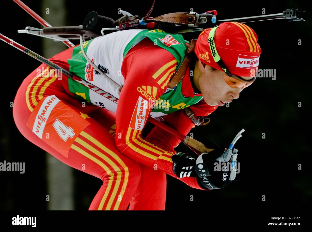 WANG Chunli China Biathlon Weltcup Verfolgung Frauen Männer Ruhpolding 18 1 2009 - Stock Image