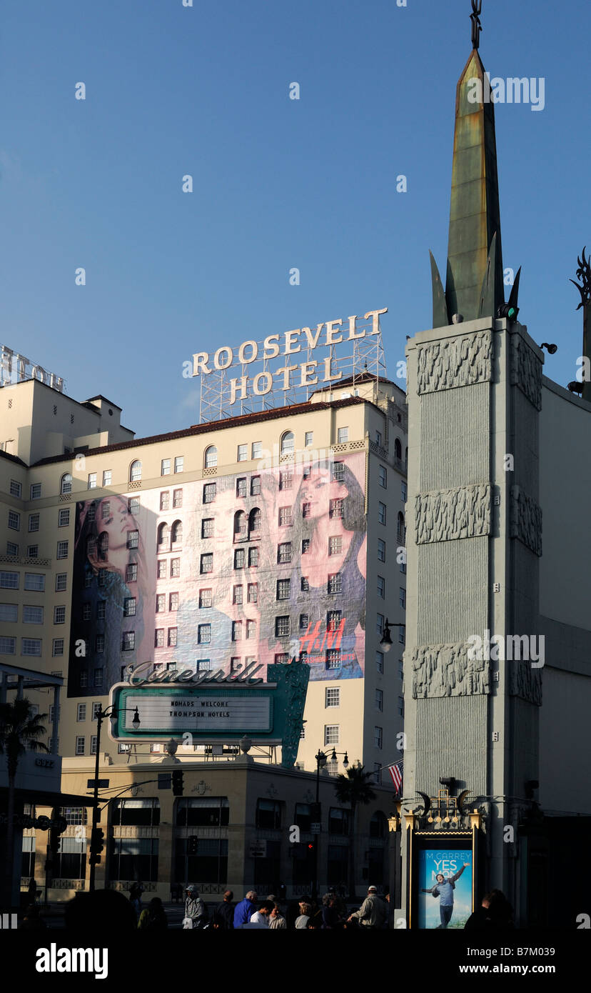 Roosevelt Hotel Exterior Hollywood Boulevard Los Angeles