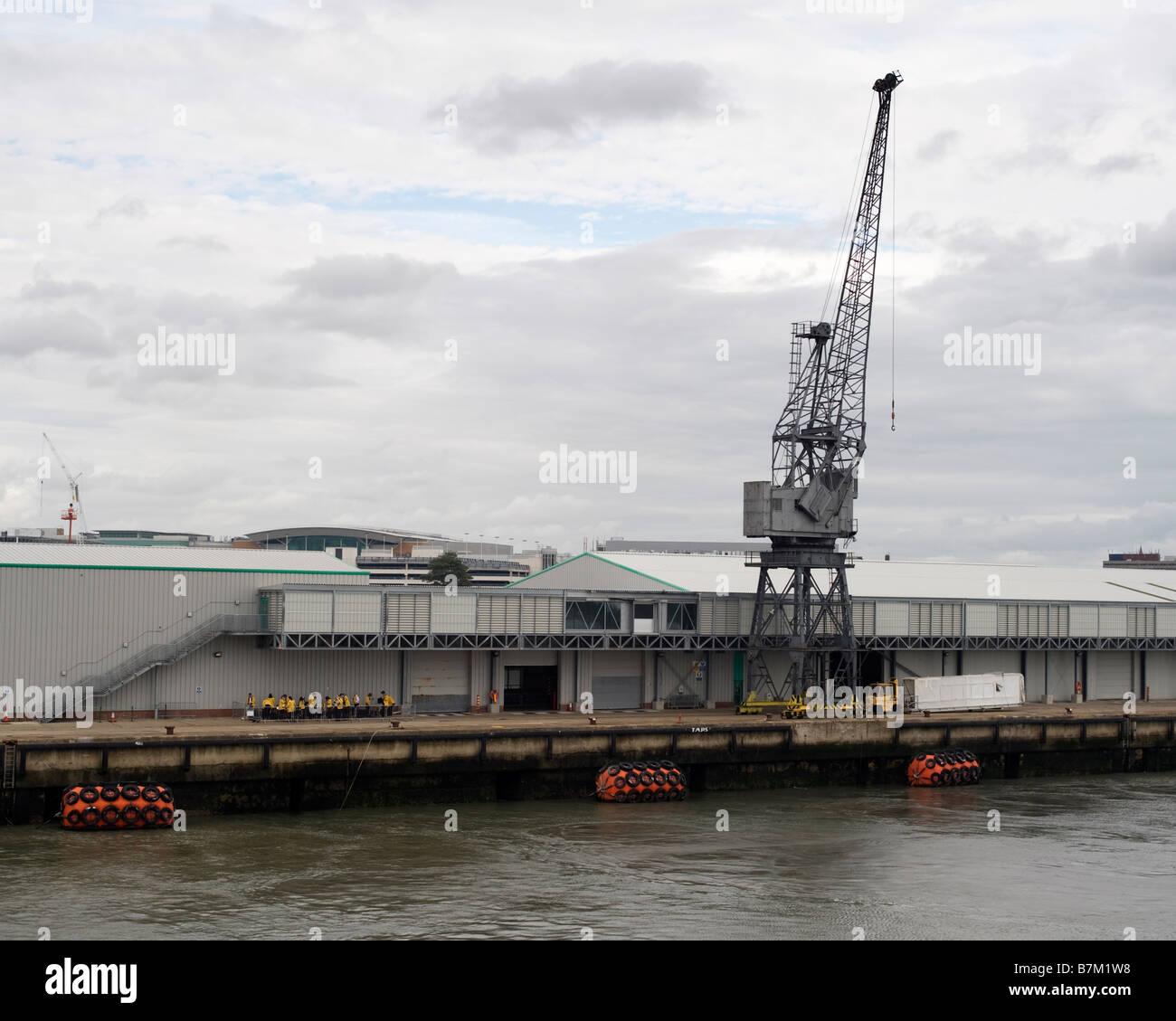 Dockside crane at the cruise ship terminal, Southampton England, UK. - Stock Image