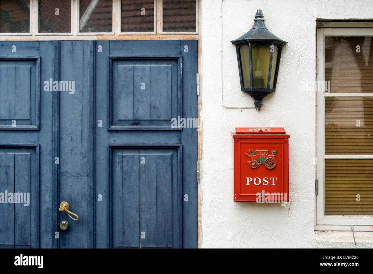 Detail of a house in Old Stavanger (Gamle Stavanger), Norway Stock Photo