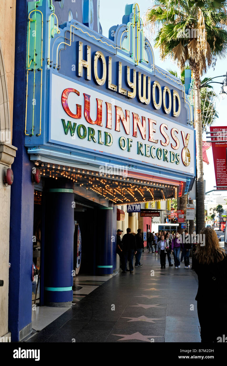 Guinness world of records building hollywood boulevard blvd los angeles LA california - Stock Image