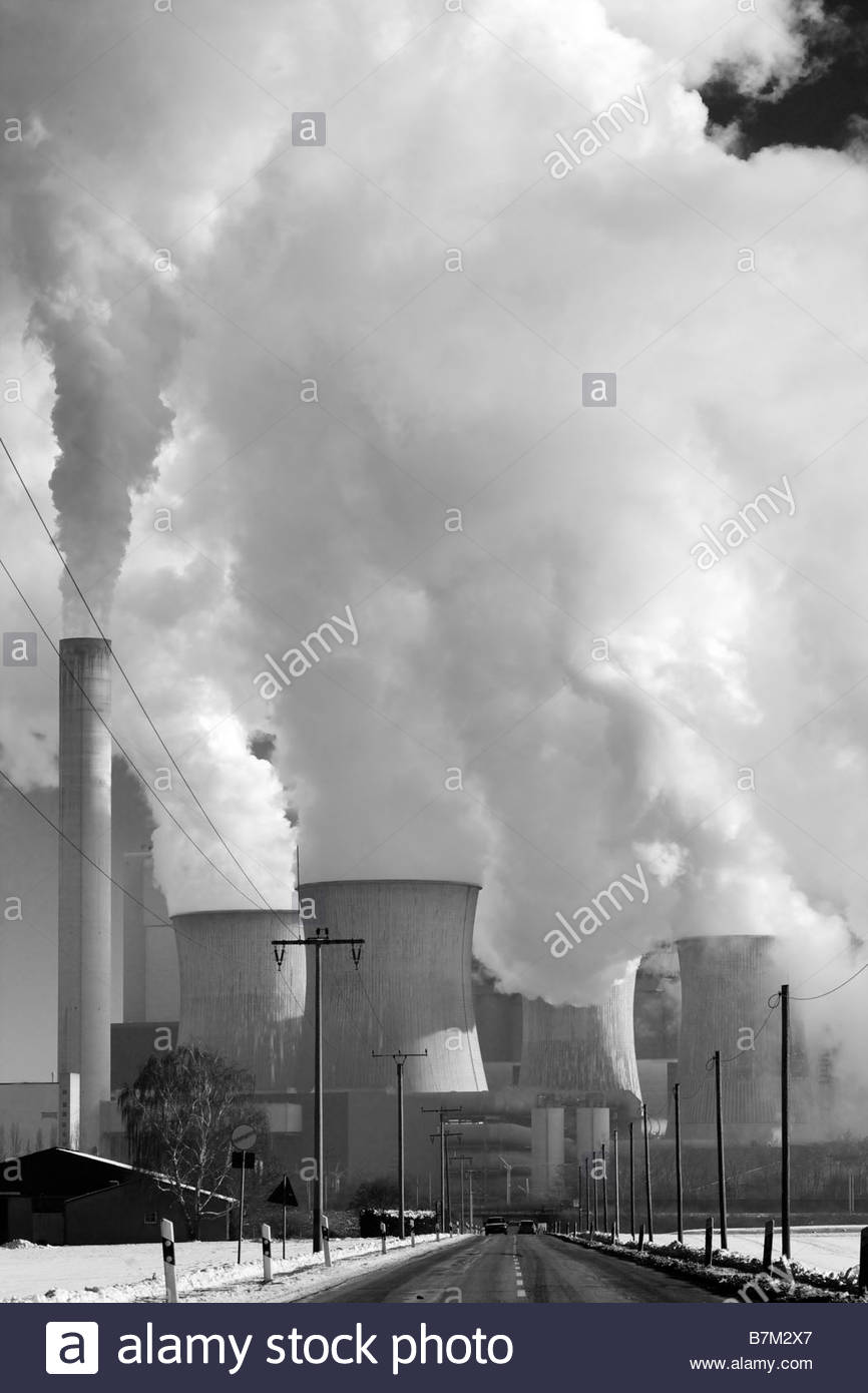 Lignite-fired power plant Bergheim-Niederaussem, operated by RWE Power AG - Stock Image