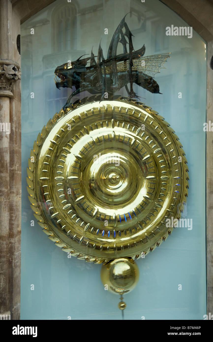 Time eating clock, created by Dr John Taylor, at Corpus Christi College. Cambridge University. UK (45) - Stock Image