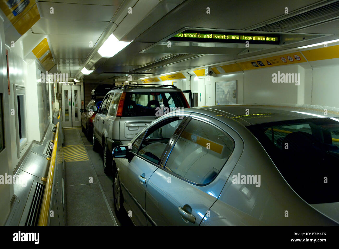 cars inside channel tunnel train eurotunnel england europe stock photo 21955534 alamy. Black Bedroom Furniture Sets. Home Design Ideas