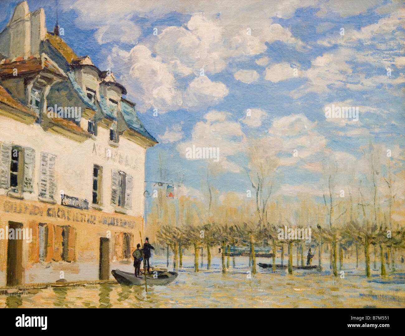 L'inondation à Port-Marly by Alfred Sisley, Musee D'Orsay Paris France Europe - Stock Image