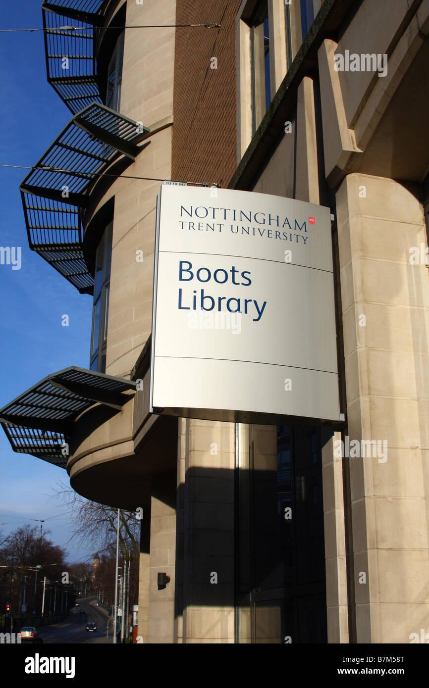 Nottingham Trent University Boots Library, Nottingham, England, U.K. - Stock Image