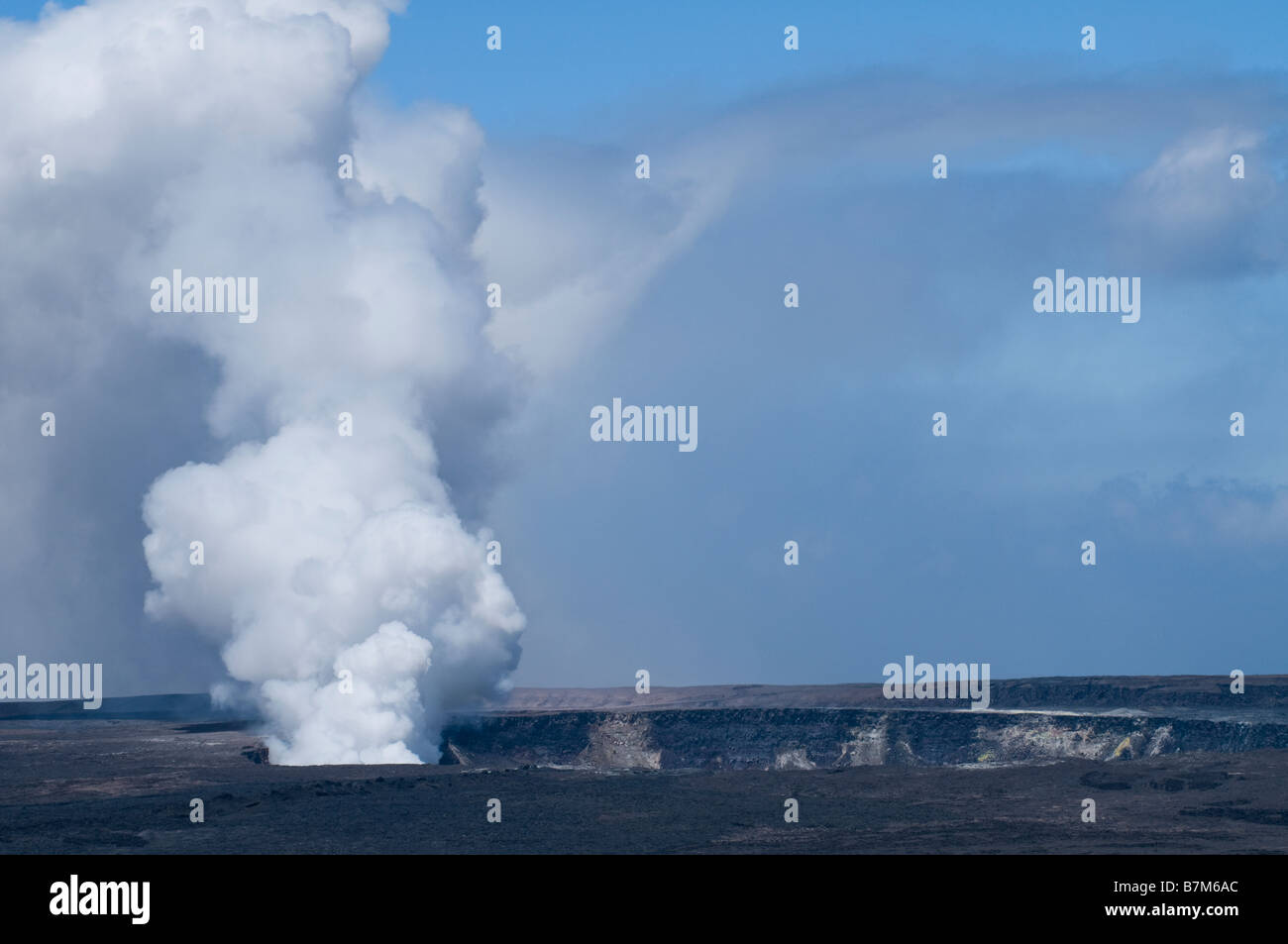 Volcano outgassing in Volcano National Park on the Big Island Hawaii. - Stock Image