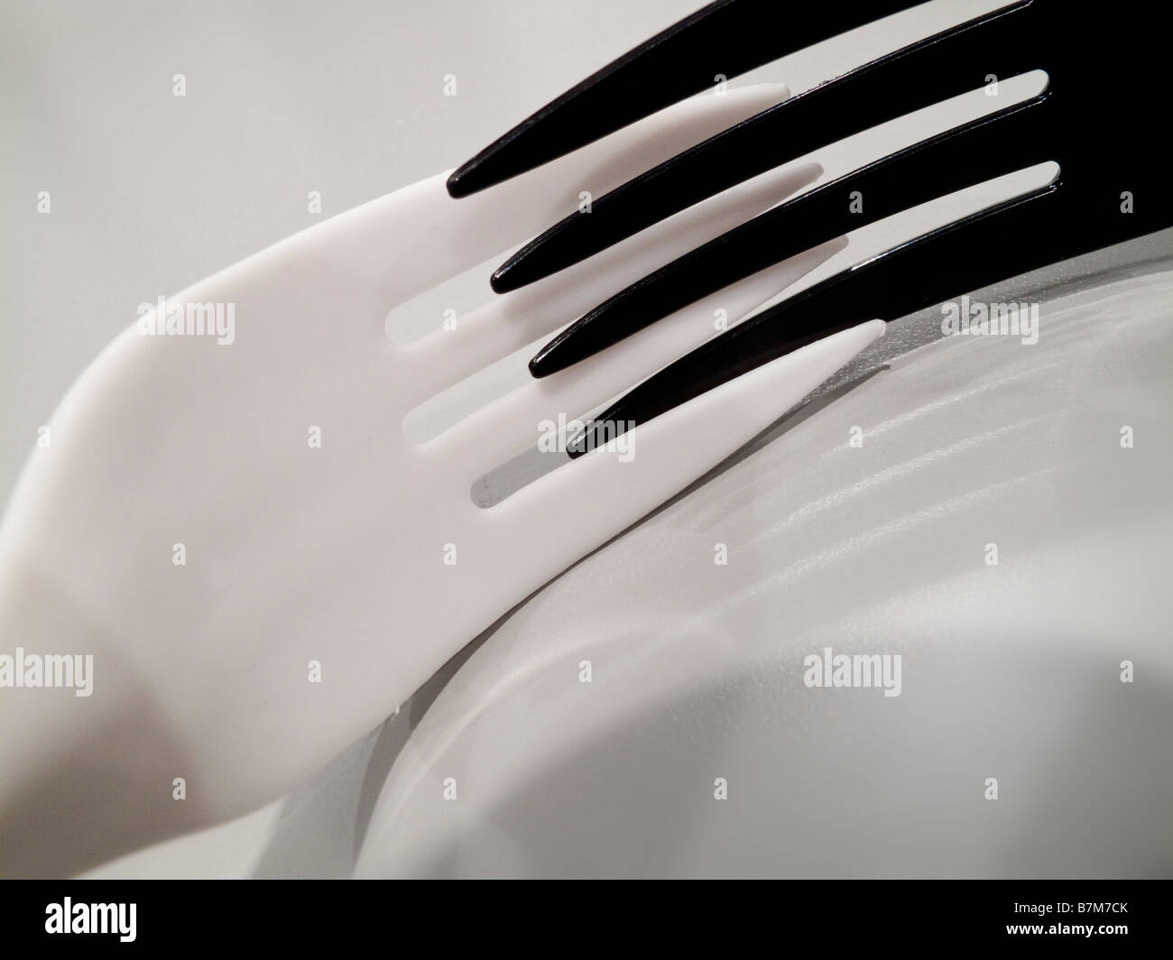 Black and White Forks - Stock Image