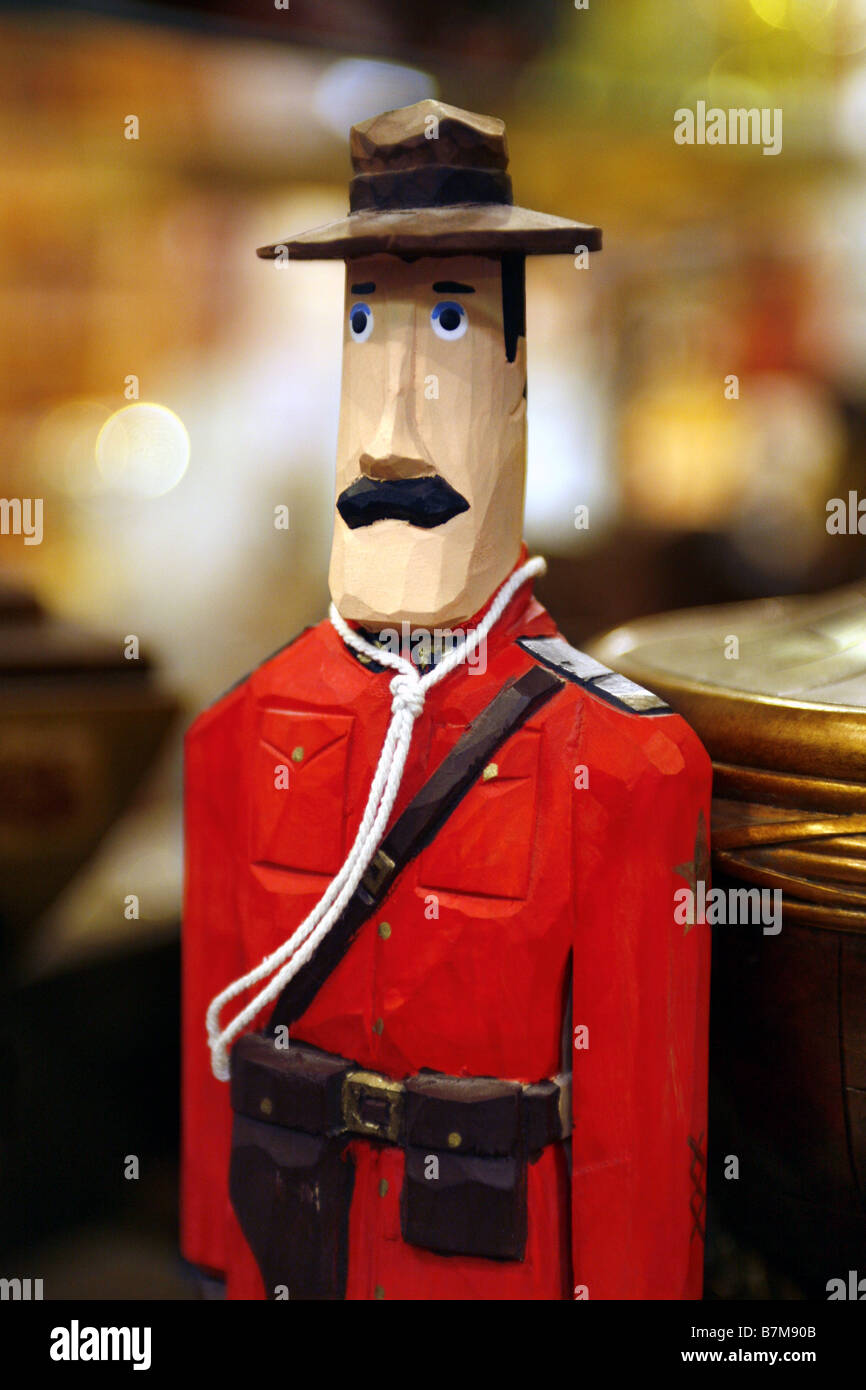 Royal Canadian Mounted Police Souvenir, Art Craft Shop, The Forks Market, Winnipeg, Manitoba, Canada - Stock Image