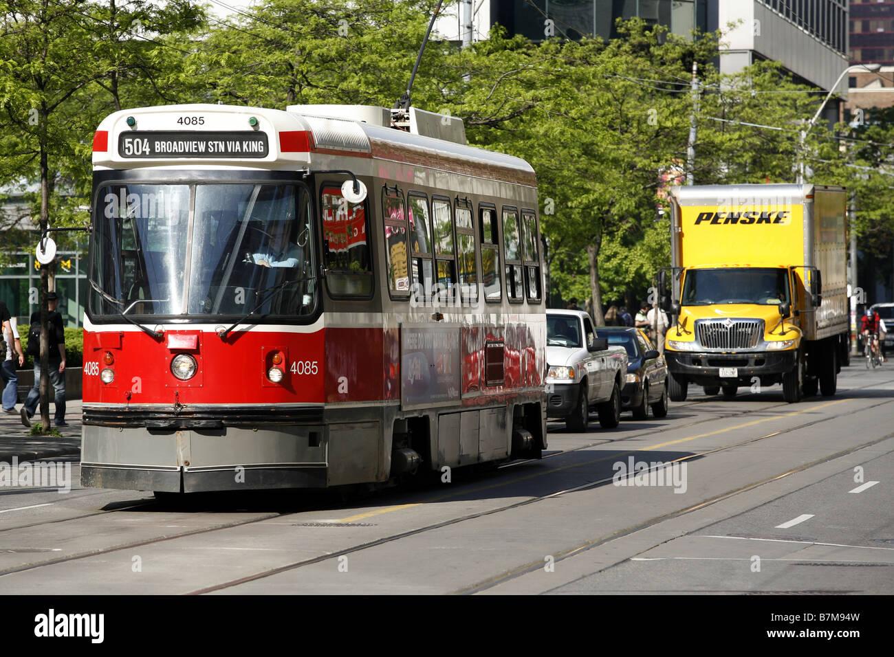 Streetcar, Toronto, Ontario, Canada - Stock Image