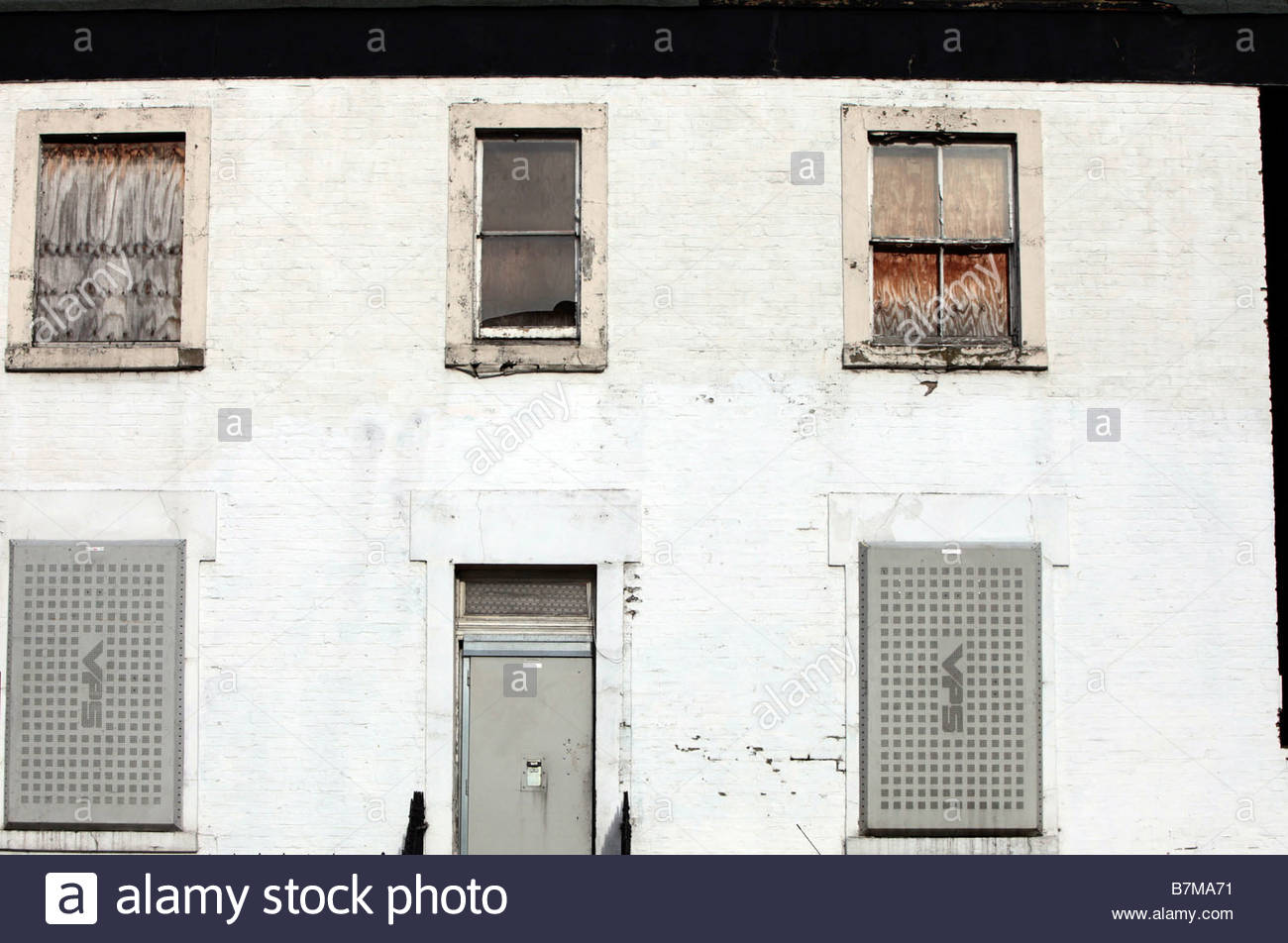 Derelict building North London England - Stock Image