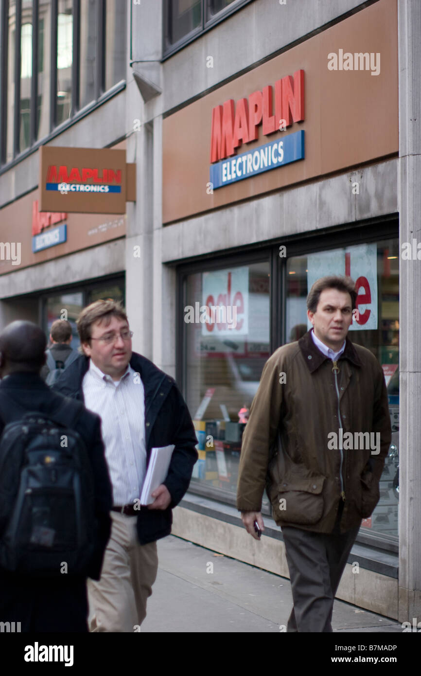 maplin electronics store City of London - Stock Image