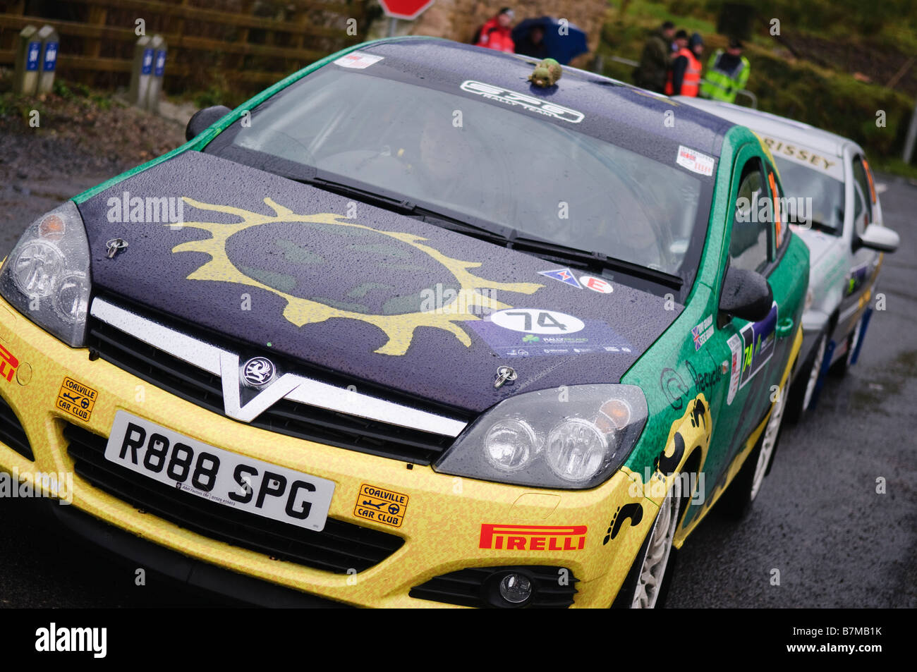 Cars That Start With D >> Rally Cars At Start Of Stage At Rally Ireland In Heavy Rain