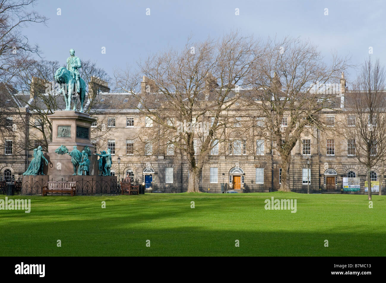 Charlotte Square in the New Town, Edinburgh. This is the location of the international Edinburgh Book Festival. - Stock Image