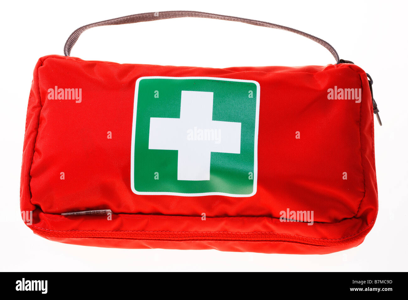 First aid box, pack and mobile, personal pharmacy, medicaments, for traveling. - Stock Image