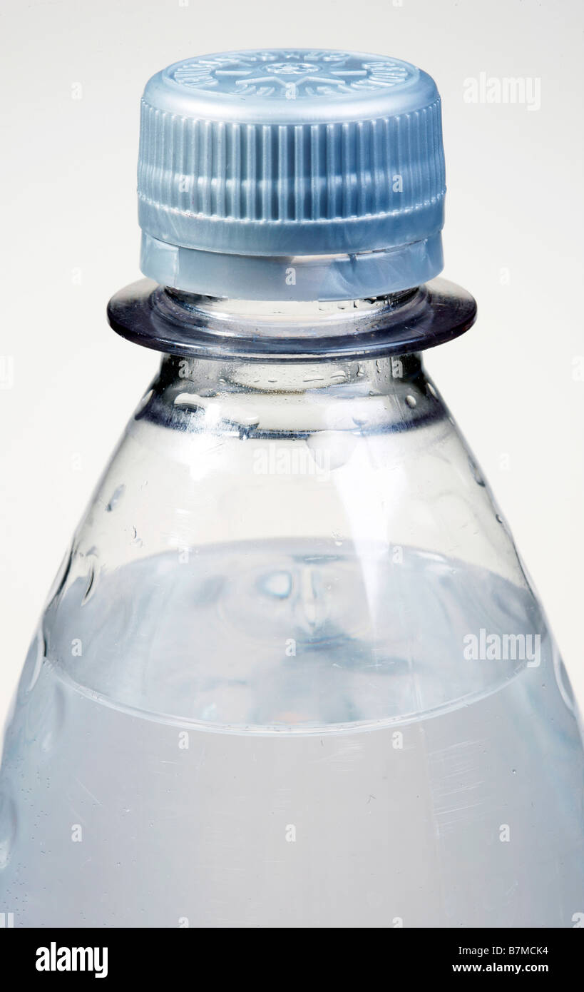 Lock of a bottle of mineral water - Stock Image