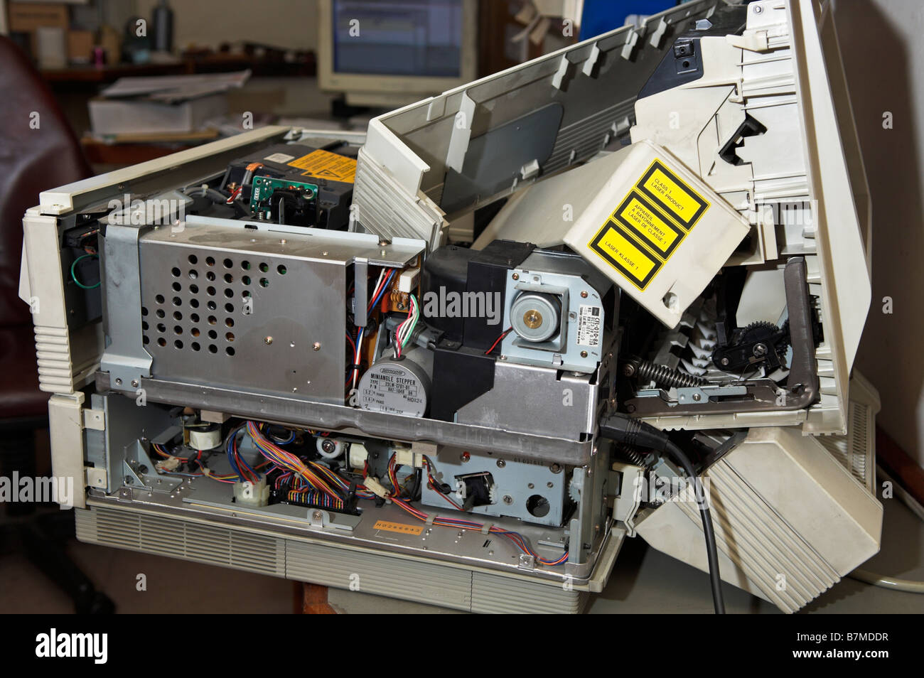 Electronic Scrap Stock Photos Images Alamy Circuit Board Recycling Machine Computer Broken Laser Printer In Office Now Electrical For Image