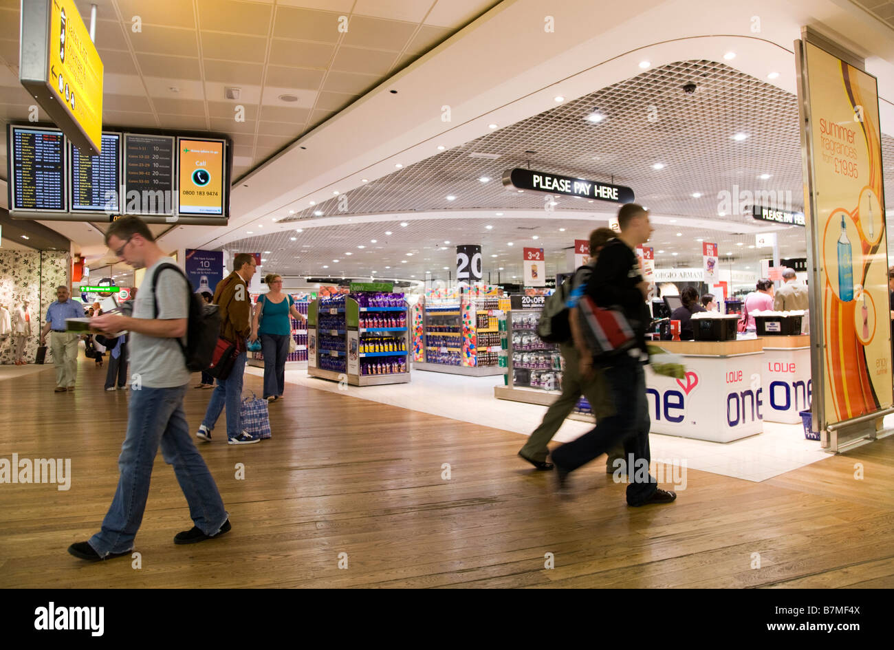 Departure Lounge Interior And Flight Monitors And One Love Shop Stock Photo Alamy