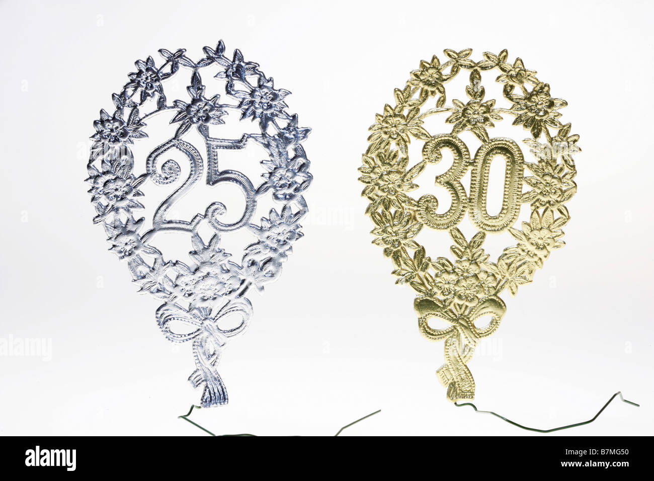 Decoration for wedding anniversary - Stock Image