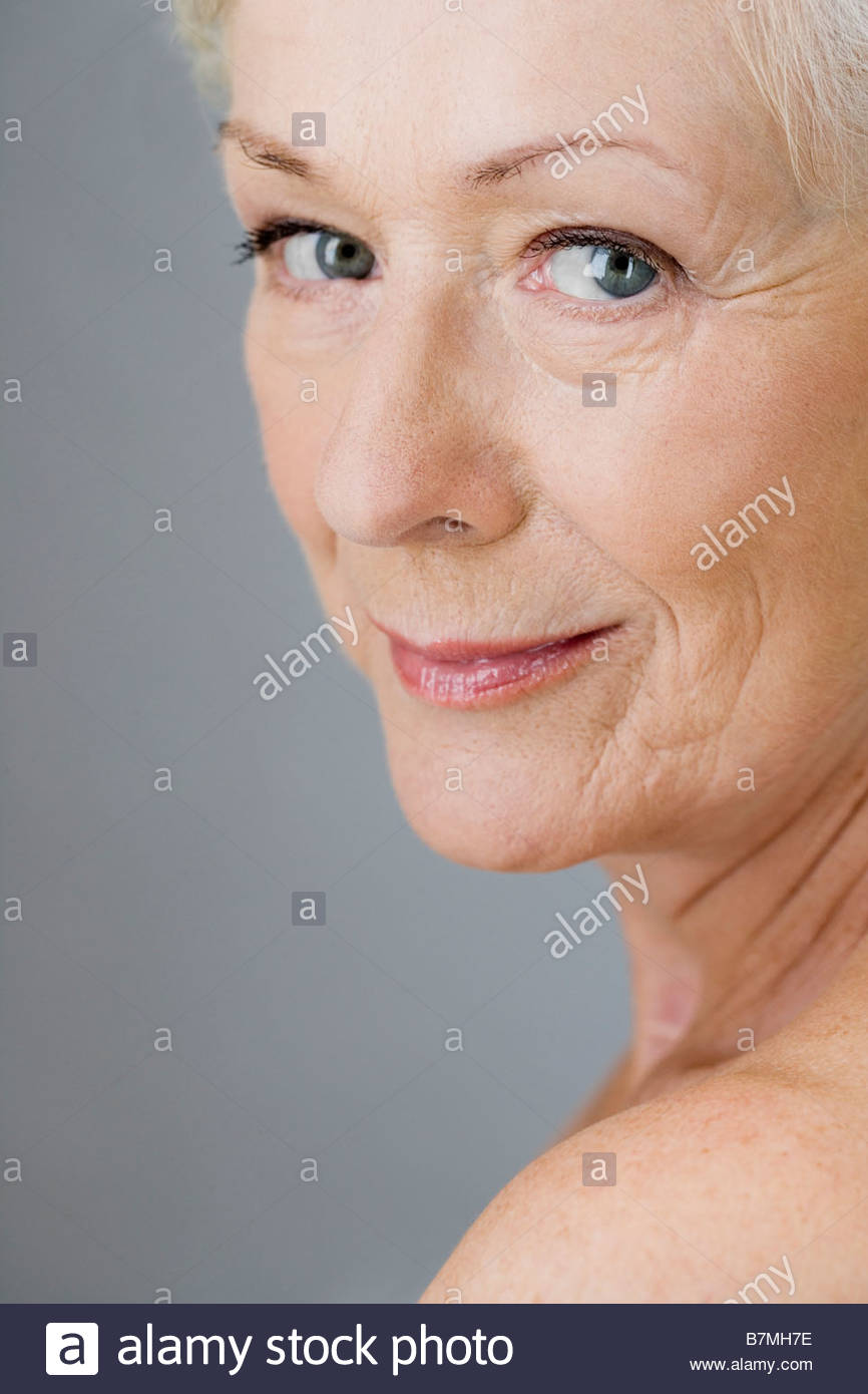 A portrait of an attractive senior woman - Stock Image