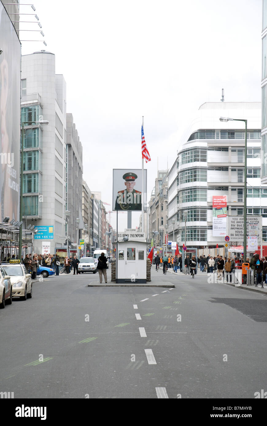 Checkpoint Charlie, Berlin - Stock Image