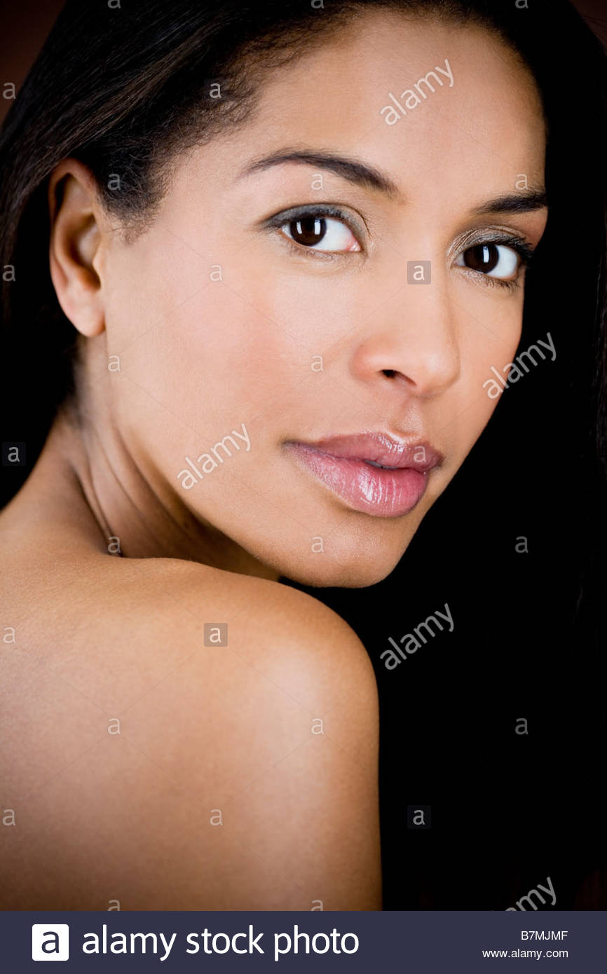 A portrait of a glamorous young black woman - Stock Image
