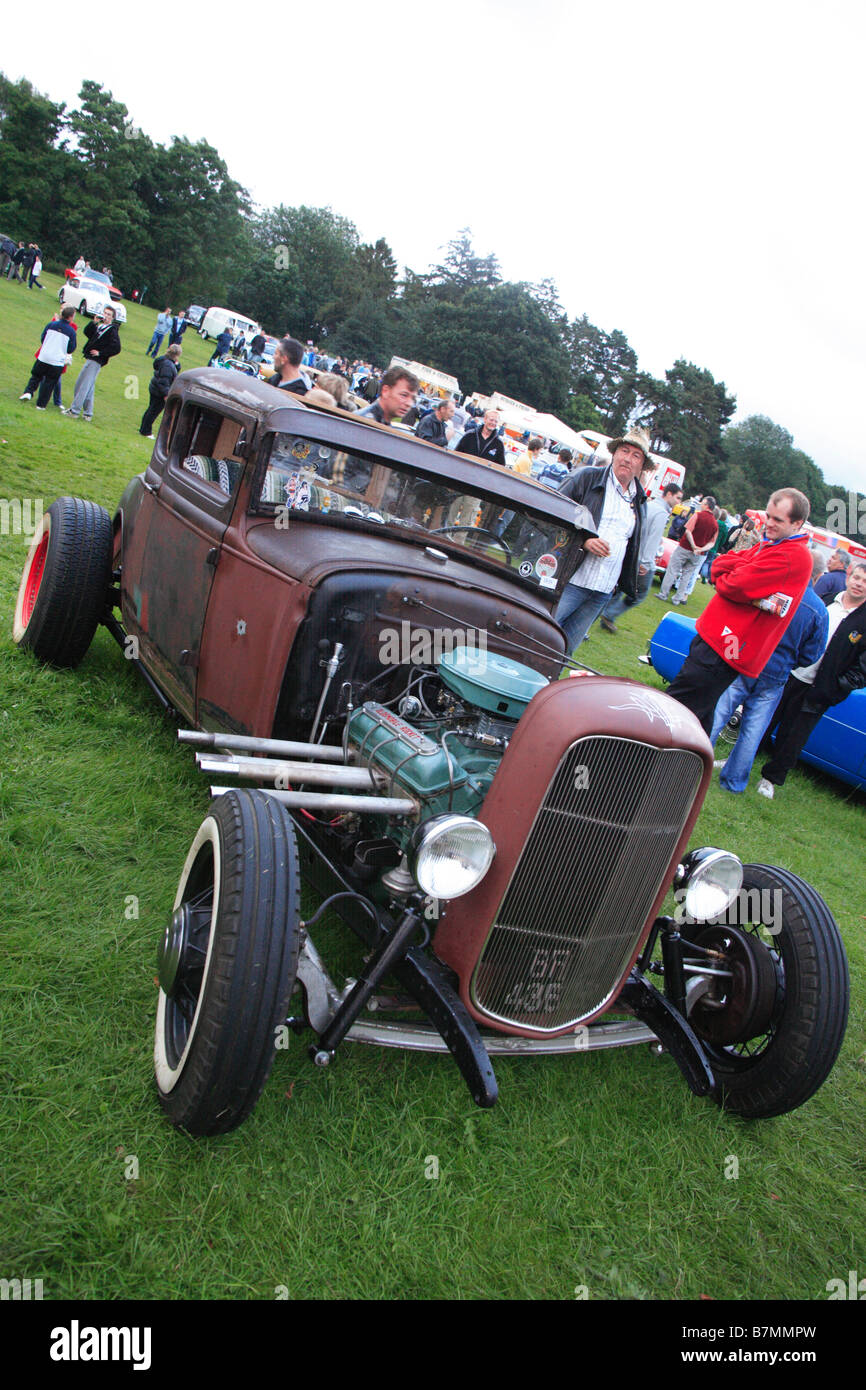 hot rod classic car vehicle motor Oldsmobile rocket show v8 open ...