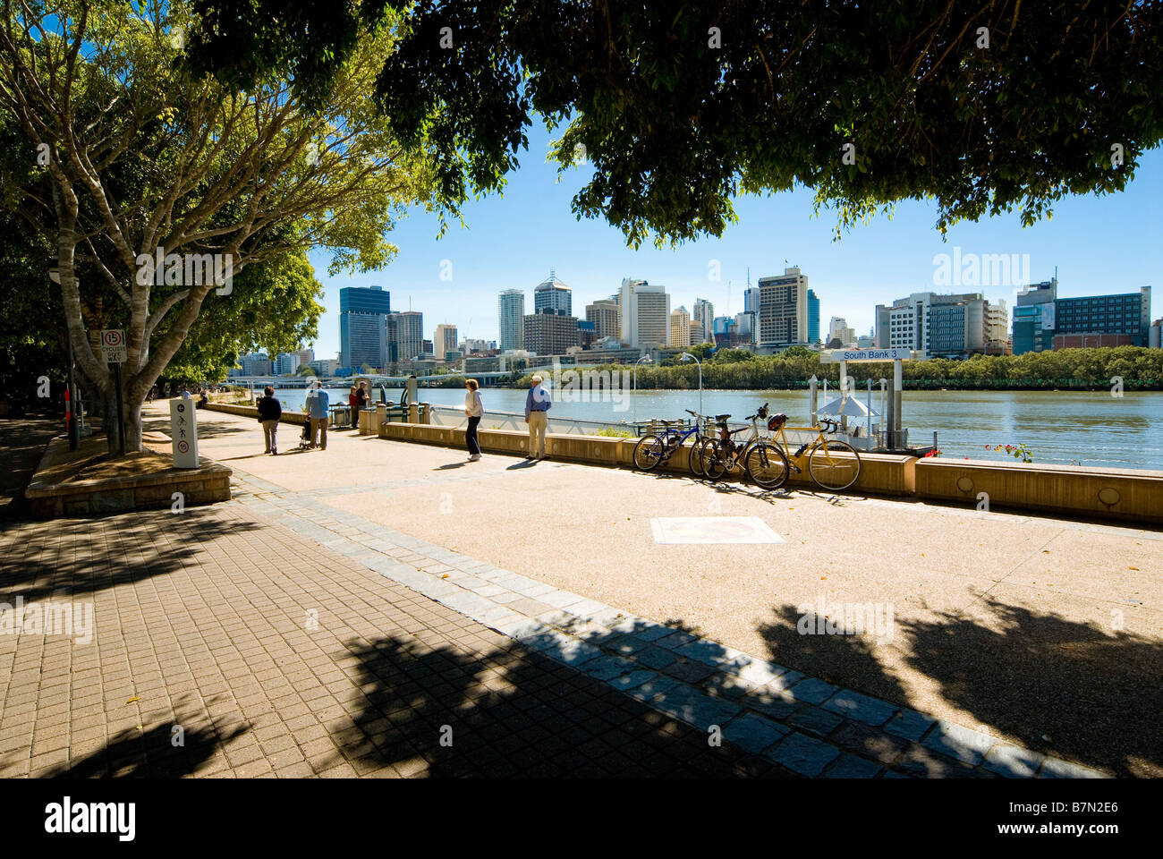 South Bank Parklands, Brisbane, Queensland, Australia - Stock Image
