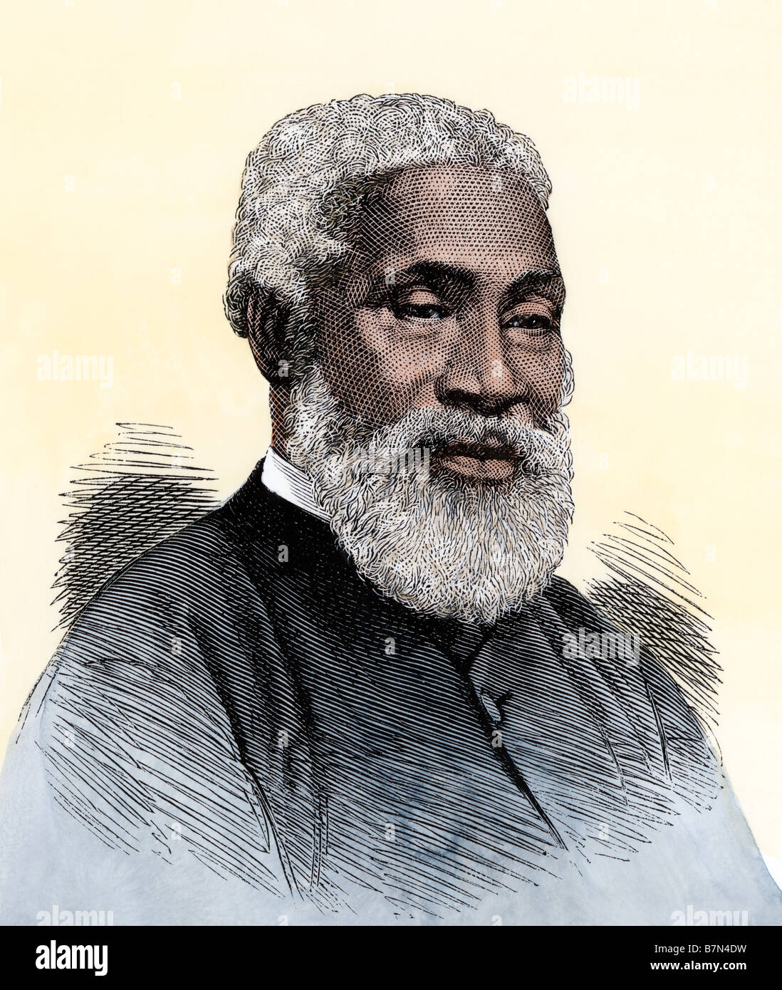 Josiah Henson, the black slave alleged to have been Harriet Beecher Stowe's model for Uncle Tom. Hand-colored - Stock Image