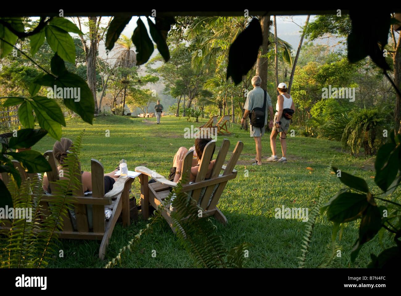 Honduras, Copan, Hacienda San Lucas eco-lodge - Stock Image