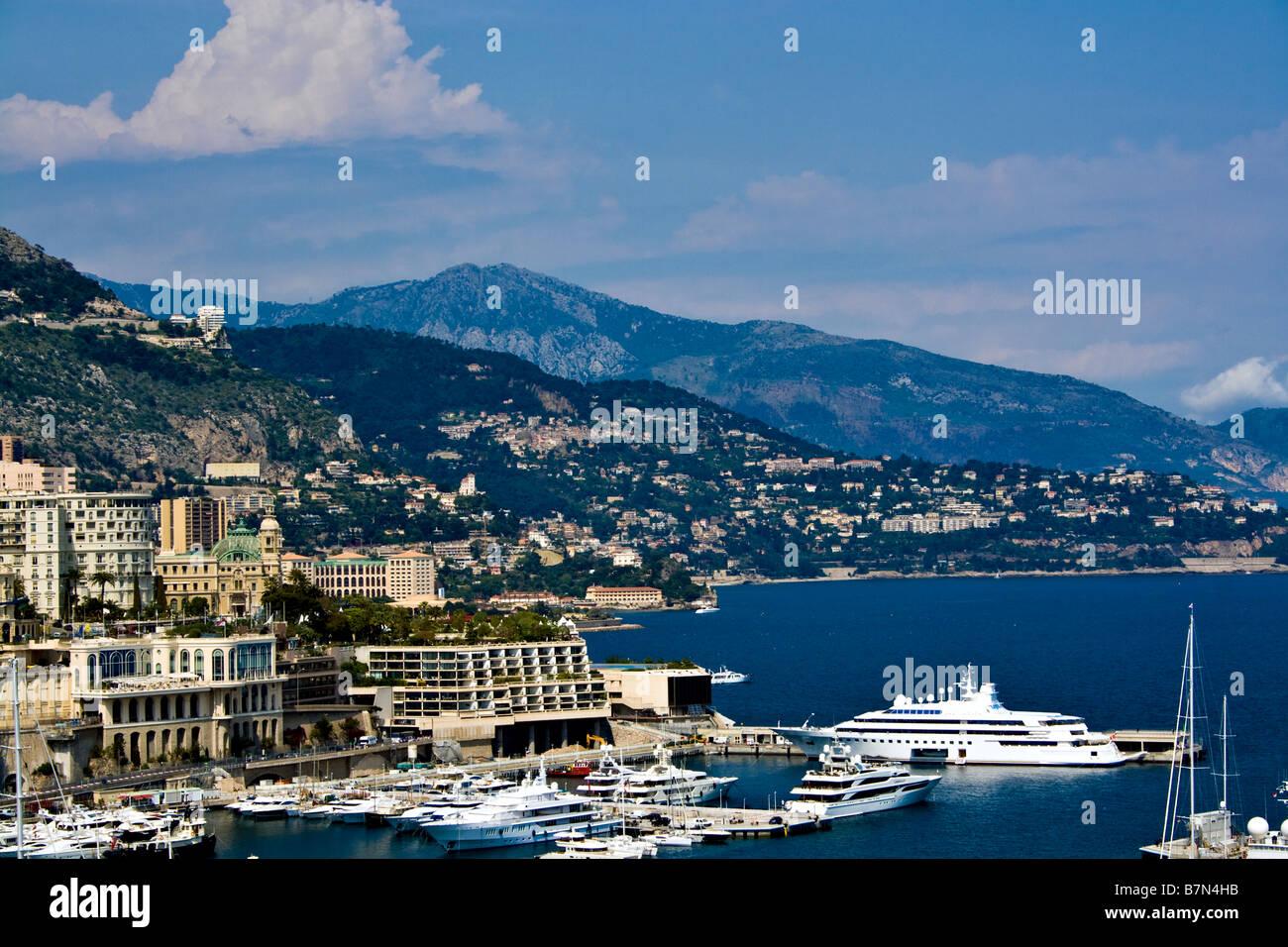 MONACO, MONTE CARLO. Monte Carlo city bay. - Stock Image