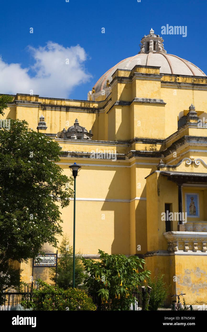 Nuestra Senora de Las Mercedes Church Antigua City Guatemala Central America - Stock Image