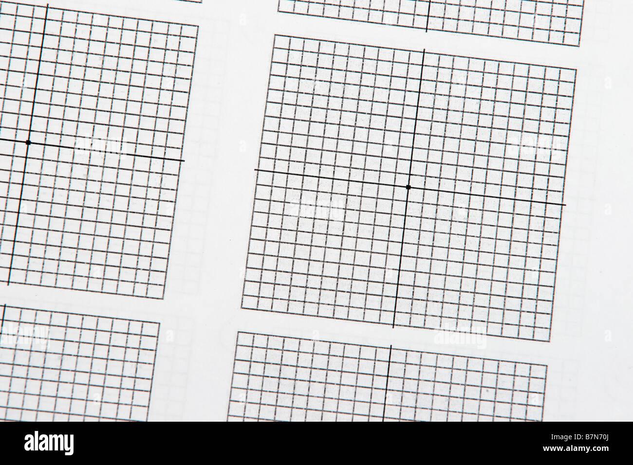 blank geometry graph - Stock Image