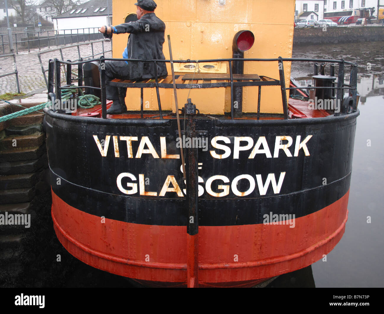 Vital Spark Clyde Puffer at Inverary - Stock Image