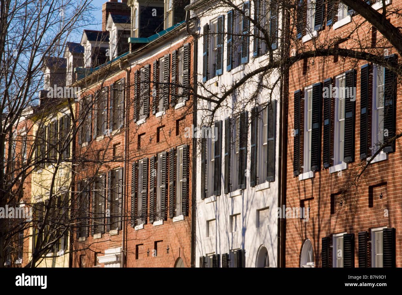 Exclusive N Street residences Georgetown Washington D.C. - Stock Image
